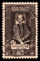 Estados Unidos vintage sello de William Shakespeare