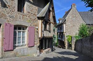 Medieval street in Dinan photo