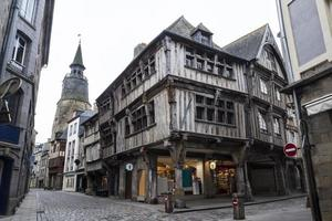 Medieval constructions in Brittany, France photo