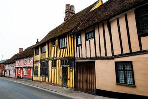 Row of timber framed cottages in Lavenham photo