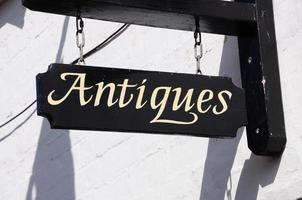 Rustic Antiques sign. photo