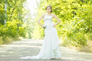 Portrait of a beautiful young bride photo