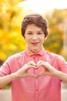 Funny teen boy