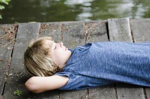 Teen on the dock