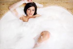 baño de burbujas foto