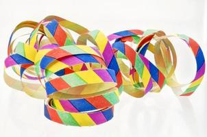 colorful streamers made of paper photo