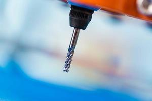 Diamond milling cutter on CNC machine photo