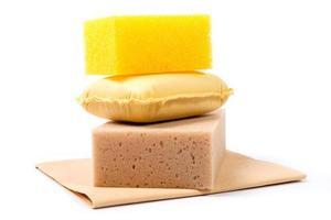 isolated sponges photo
