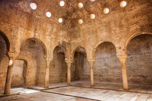 El Banuelo, arabic public baths in Granada, Spain