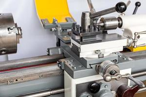 Lathe in a machine shop photo