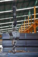 Crane and Weight balance Machine in Steel warehouse