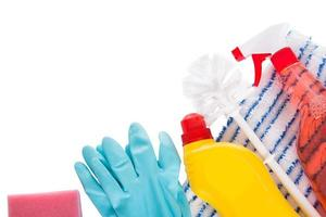 Cleaning liquids and supplies photo