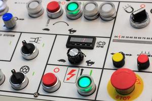 control panel of turning machining center photo