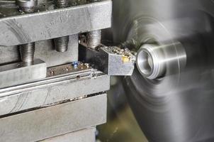 taller de metal de la máquina de torno foto