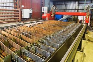 mesa de corte de antorchas de gas y plasma foto