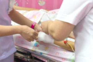background blur of nurses are to patients by providing