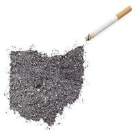 Ash shaped as Ohio and a cigarette.(series) photo