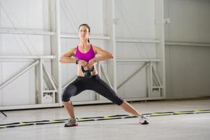 Kettlebell work out photo