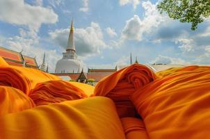 Hae Pha Khuen That Festival Robe cloth