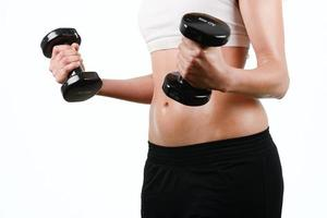 Retrato de mujer joven fitness mixta