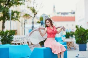bela jovem turista em Viena