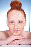 Lovely freckled girl