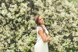 hermosa niña de primavera foto