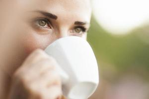 chica café foto
