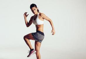 Pretty young athletic woman photo