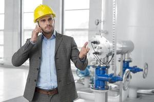 ingenieros industriales en el sitio foto