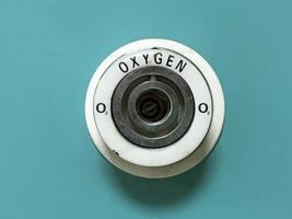 tubería de oxígeno en la habitación del paciente foto