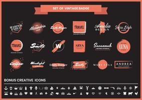 Modern Badge Set  vector