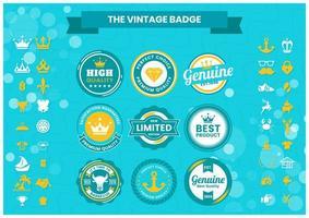 Insignias vintage premium para banner