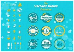 conjunto de insignias premium de colores