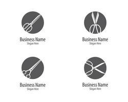 Scissors Circular Logo Icon vector