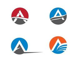 Modern A letter logo set vector
