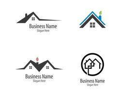 Property logo template set vector