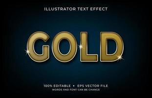 Gold Font Uppercase Text Effect  vector