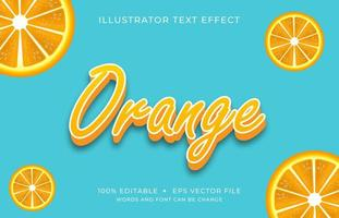 Orange Font with Uppercase Letters Text Effect