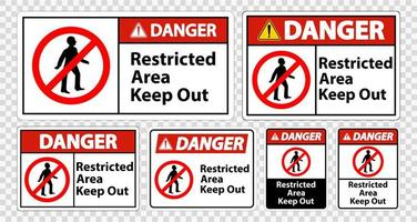 Danger Restricted Area Keep Out Signs  vector