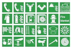 Emergency Symbols and Icons Set  vector