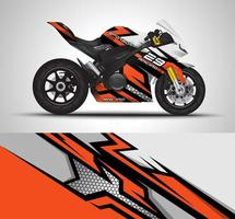 Motorcycle vinyl sticker vector