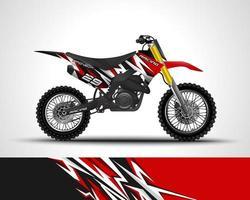 Motocross wrap decal vector
