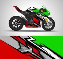 Motorcycle sportbikes wrap vector