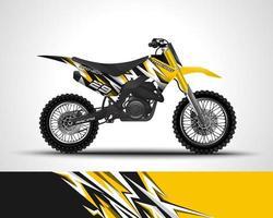 envoltura de bicicleta de motocross amarilla vector