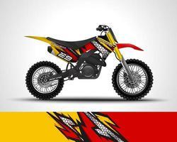 etiqueta de vinilo de motocross vector