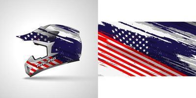 diseño de etiqueta de casco de vinilo vector