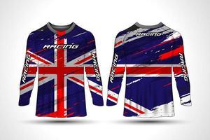Cycling jersey shirt vector
