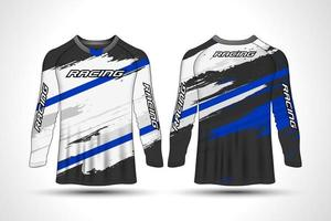 Long sleeve racing shirt  vector