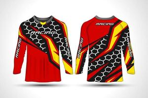 Long sleeve t-shirt sport motorcycle jersey vector